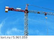 Купить «Строительный кран», фото № 5961059, снято 21 января 2014 г. (c) Сергей Трофименко / Фотобанк Лори
