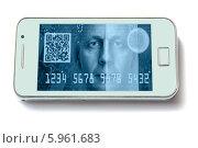 Купить «Электронные платежи с использованием смартфона», фото № 5961683, снято 15 мая 2014 г. (c) bashta / Фотобанк Лори