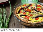 Купить «Домашний киш с овощами и шпротами», фото № 5967851, снято 23 мая 2013 г. (c) Афанасьева Ольга / Фотобанк Лори