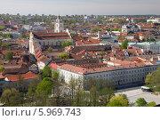 Панорама Вильнюса. Вид с башни Гедиминаса. Литва (2014 год). Стоковое фото, фотограф Иван Козлов / Фотобанк Лори