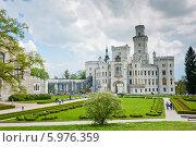 Купить «Замок Глубока-над-Влтавой. Чехия», фото № 5976359, снято 27 апреля 2014 г. (c) E. O. / Фотобанк Лори