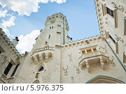 Купить «Замок Глубока-над-Влтавой. Внутренний двор.  Чехия», фото № 5976375, снято 27 апреля 2014 г. (c) E. O. / Фотобанк Лори