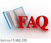Купить «Аббревиатура faq (вопросы и ответы) и открытая книга», иллюстрация № 5982335 (c) Maksym Yemelyanov / Фотобанк Лори