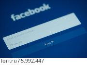 Купить «Авторизация в Facebook», фото № 5992447, снято 9 мая 2014 г. (c) Александр Лычагин / Фотобанк Лори