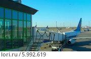 Купить «Терминал аэропорта», видеоролик № 5992619, снято 2 июня 2014 г. (c) Игорь Жоров / Фотобанк Лори