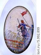 Купить «Мозаичное панно на станции метро», фото № 5992899, снято 28 октября 2006 г. (c) михаил красильников / Фотобанк Лори