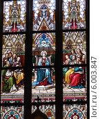 Купить «Витражи базилики святых Петра и Павла в Праге», фото № 6003847, снято 25 декабря 2013 г. (c) Мальцев Артур / Фотобанк Лори