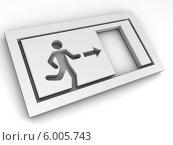 Знак выхода. Стоковая иллюстрация, иллюстратор Maksym Yemelyanov / Фотобанк Лори