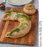 Купить «Ханума, или ханом - рулет из теста и мясной начинкой, традиционное блюдо азиатской кухни, приготовленное на пару», фото № 6008379, снято 15 июня 2014 г. (c) Олеся Сарычева / Фотобанк Лори