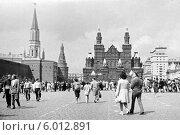 Купить «Красная площадь, Москва, 70-е годы», фото № 6012891, снято 22 марта 2019 г. (c) Инна Грязнова / Фотобанк Лори