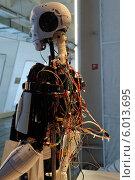Вид со спины на внутренности робота - андроида. Стоковое фото, фотограф Сергей Хаменок / Фотобанк Лори