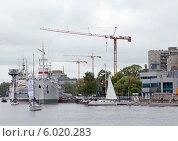 Набережная Петра Великого, Музей Мирового океана (2014 год). Редакционное фото, фотограф Svet / Фотобанк Лори