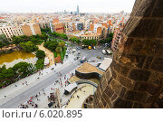Купить «Вид на Барселону с Саграды Фамилия», фото № 6020895, снято 22 мая 2014 г. (c) Яков Филимонов / Фотобанк Лори