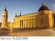 Домская площадь. Вильнюс, Литва (2014 год). Стоковое фото, фотограф Иван Козлов / Фотобанк Лори