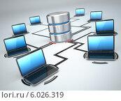 Купить «Хранение баз данных и ноутбуки. Концепция сети», иллюстрация № 6026319 (c) Maksym Yemelyanov / Фотобанк Лори