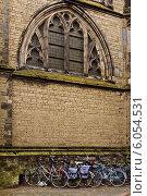 Купить «Велосипедная парковка у Утрехтского собора», фото № 6054531, снято 29 августа 2011 г. (c) Артём Сапегин / Фотобанк Лори