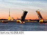 Дворцовый мост в Белые ночи (2014 год). Редакционное фото, фотограф Андрей Разумов / Фотобанк Лори