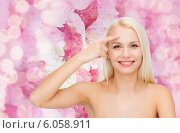 Купить «beautiful woman touching her forehead», фото № 6058911, снято 15 апреля 2014 г. (c) Syda Productions / Фотобанк Лори