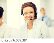 Купить «friendly female helpline operator», фото № 6059391, снято 9 июня 2013 г. (c) Syda Productions / Фотобанк Лори