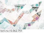 Деньги России и стрелки, устремленные вверх. Стоковое фото, фотограф EugeneSergeev / Фотобанк Лори