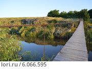 Канатный мост через реку Ингул. Стоковое фото, фотограф Яна Зайцева / Фотобанк Лори
