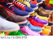 Купить «lots of sport shoes», фото № 6084919, снято 15 апреля 2014 г. (c) Яков Филимонов / Фотобанк Лори