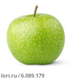 Купить «Одно зеленое яблоко», фото № 6089179, снято 17 июня 2019 г. (c) Роман Самохин / Фотобанк Лори