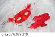 Карнавал. Маска и перчатки. Стоковое фото, фотограф Ирина Каралкина / Фотобанк Лори