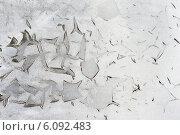 Потрескавшаяся белая краска на старой стене. Стоковое фото, фотограф Анастасия Филиппова / Фотобанк Лори