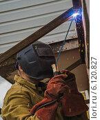 Купить «Сварочные работы», фото № 6120827, снято 22 июня 2014 г. (c) Сергей Великанов / Фотобанк Лори