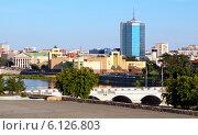 Купить «Панорама города Челябинска», эксклюзивное фото № 6126803, снято 17 июня 2014 г. (c) Артём Крылов / Фотобанк Лори
