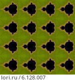 Купить «Бесшовный декоративный узор с фракталами в зелёных тонах», иллюстрация № 6128007 (c) Astronira / Фотобанк Лори