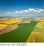 Купить «Сельская местность в середине лета, вид сверху», фото № 6133623, снято 23 июля 2013 г. (c) Владимир Мельников / Фотобанк Лори