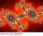Купить «Декоративная фрактальная спираль в красных тонах», иллюстрация № 6142611 (c) Astronira / Фотобанк Лори