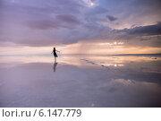 Купить «Солёное бессточное самосадочное озеро Эльтон, Палласовский район Волгоградской области», фото № 6147779, снято 12 июня 2014 г. (c) Виктор Водолазький / Фотобанк Лори