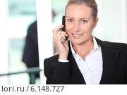 Купить «Smart woman on a mobile phone», фото № 6148727, снято 19 мая 2010 г. (c) Phovoir Images / Фотобанк Лори