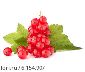 Купить «Red currants and green leaves still life», фото № 6154907, снято 2 августа 2012 г. (c) Natalja Stotika / Фотобанк Лори