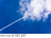 Красивое голубое небо с облаками. Стоковое фото, фотограф Сергей Гойшик / Фотобанк Лори