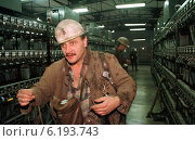 Купить «Miner in the Kleofas mine in Katowice, Poland», фото № 6193743, снято 27 октября 1998 г. (c) Caro Photoagency / Фотобанк Лори