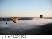 Воздушные шары в небе. Стоковое фото, фотограф Дмитриева Марина / Фотобанк Лори