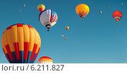 Воздушные шары в небе. Стоковое фото, фотограф Лукаш Дмитрий / Фотобанк Лори