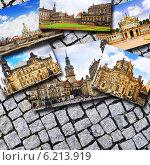 Коллаж из красивых фотографий Дрездена. Германия. Стоковое фото, фотограф Vitas / Фотобанк Лори