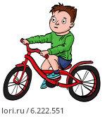 Велосипедист. Стоковая иллюстрация, иллюстратор Надежда Хорошилова / Фотобанк Лори