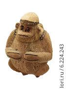 Обезьяна, фигурка из кокоса. Стоковое фото, фотограф Павел Черных / Фотобанк Лори