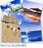 Купить «Фотографии Египта, Африка. Коллаж на белом фоне», фото № 6224463, снято 23 июля 2019 г. (c) Vitas / Фотобанк Лори