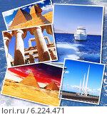 Купить «Фото Египта на фоне моря, коллаж», фото № 6224471, снято 23 июля 2019 г. (c) Vitas / Фотобанк Лори