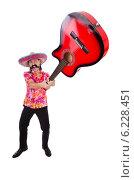Купить «Funny mexican with sombrero hat», фото № 6228451, снято 28 ноября 2013 г. (c) Elnur / Фотобанк Лори