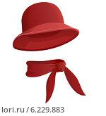Купить «Красная шляпка с шарфом», иллюстрация № 6229883 (c) Алексей Зайцев / Фотобанк Лори