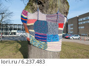 Купить «Neumuenster, Germany, knitting street art at the museum cloth and Technology Neumuenster», фото № 6237483, снято 6 марта 2013 г. (c) Caro Photoagency / Фотобанк Лори