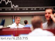 Купить «Floor trading on the Frankfurt Stock Exchange», фото № 6253715, снято 17 мая 2000 г. (c) Caro Photoagency / Фотобанк Лори